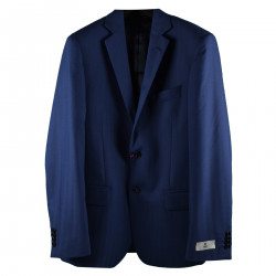 BLUE BLAZER WITH NOTCHED LAPEL
