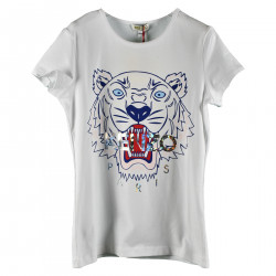 WHITE FRONT PRINTED T SHIRT