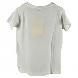 WHITE T SHIRT WITH RED MOUSE WITH SUN GLASSES