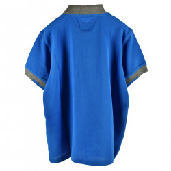 BLUE POLO WITH CONTRASTING COLLAR