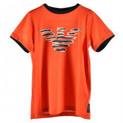 RED T SHIRT WITH PRINTED FRONT