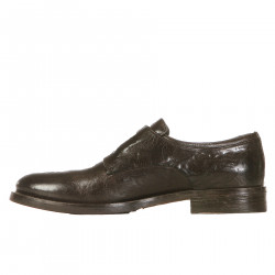 COLOR MAHOGANY LEATHER LOAFER