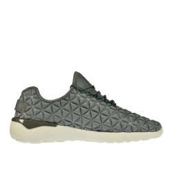 GRAY QUILTED EFFECT SNEAKER