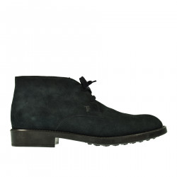 DARK BLUE LEATHER ANKLE BOOT