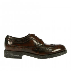 BROWN LEATHER LACE UP SHOIE