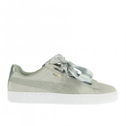 SUEDE HEART SAFARI GREY SNEAKER