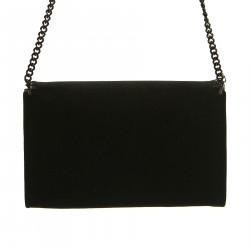 BLACK VELVET SHOULDER BAG
