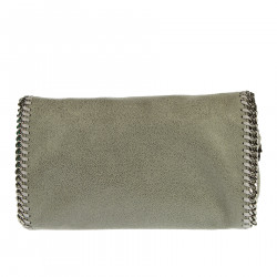 GREY SHOULDER BAG WITH CHAIN PROFILE