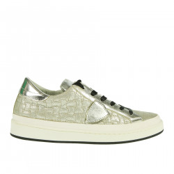 SILVER LEATHER SNEAKER