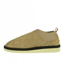 BEIGE SLIP ON WITH SHEARLING LINING