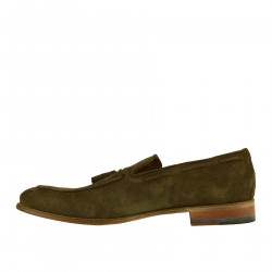 MOCASSINO MARRONE IN CAMOSCIO