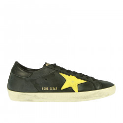 BLACK AND YELLOW SUPERSTAR SNEAKER
