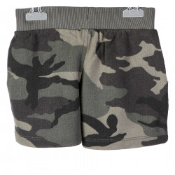 GREEN CAMOUFLAGE SHORTS