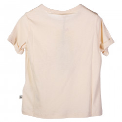 PINK ROUND NECK T SHIRT WITH PRINT