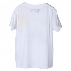 ROUND NECK T SHIRT WITH BLUE PRINT