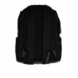 BLACK BACKPACK WITH WRITTEN