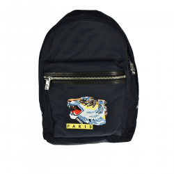 BLUE BACKPACK WITH TIGER