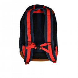 BLUE BACKPACK WITH CAMOUFLAGE POCKETS