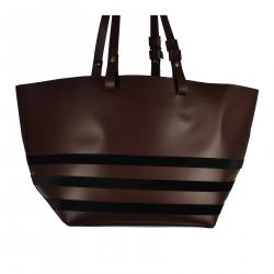 BORDEAUX SHOULDER BAG WITH BLACK STRIPES