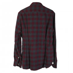 VIOLET AND GRAY CHECKED SHIRT