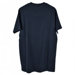 T SHIRT BLU CON STAMPA FRONTALE