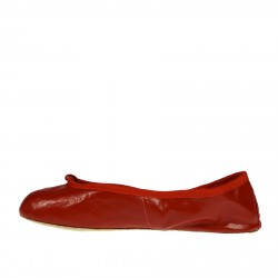 RED LEATHER BALLERINA