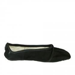 BLACK CANVAS BALLET FLATS