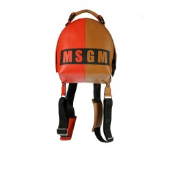 RED AND BROWN BACKPACK