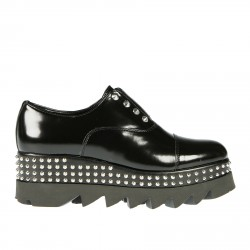 LACE UP SHOE WITH STUDS ALICE LOW