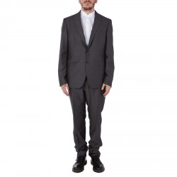 GREY WOOL AND SILK SUIT