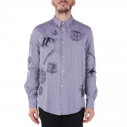 PATCHED OXFORD BLUE SHIRT