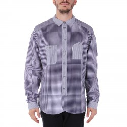 TAILORED FIT SHIRT WITH STRIPED AND CHECKED DESIGN