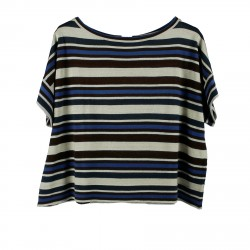 STRIPED SWEATER WITH LUREX