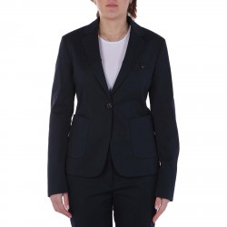 BLUE TAILLEUR WITH PATCHED POCKETS