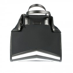 BLACK BAG WITH CONTRASTING STRIPES