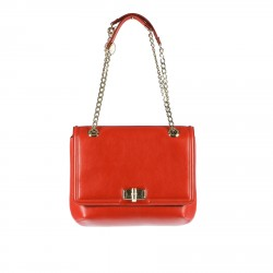 BORSA MEDIUM HAPPY PELLE ROSSA