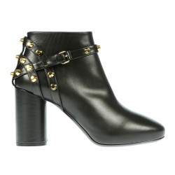 BLACK ANKLE BOOT WITH STUDS