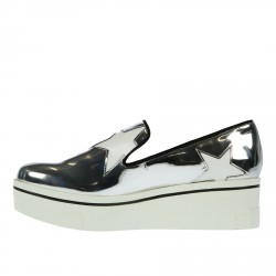 SILVER AND WITH STARS SLIP ON