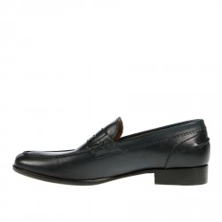 NIGHT BLUE LEATHER LOAFER