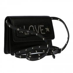 BLACK CLUTCH BAG LOVE