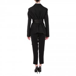 BLACK WOOL AND SILK SUIT