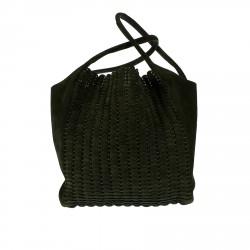 GREEN SUEDE BAG