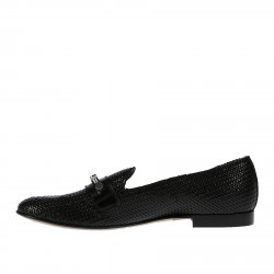BLACK LOAFER WITH STUDS