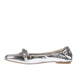 WIPS SILVER LOAFERS