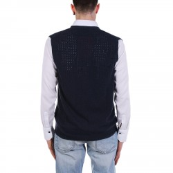 BLUE PERFORATED VEST