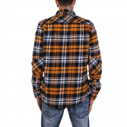YELLOW AND BLACK TARTAN SHIRT WITH BREAST POCKETS