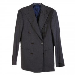 PEAKED LAPEL GREY DOUBLEBRESTED SUIT