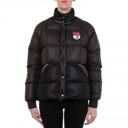 GREY AND BLACK PADDED JACKET WITH ENGLISH CREST