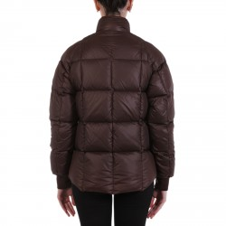 BROWN QUILTED PADDED JACKET
