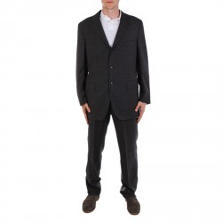 GREY SUIT WITH LAPEL COLLAR